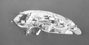 North Brother Island, 1957. Picture taken by Fairchild Aerial Surveys, Inc.